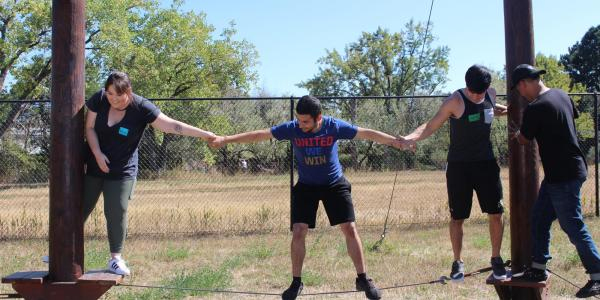 Students at the Challenge Course