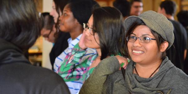 McNeill students getting to know each other at a community event