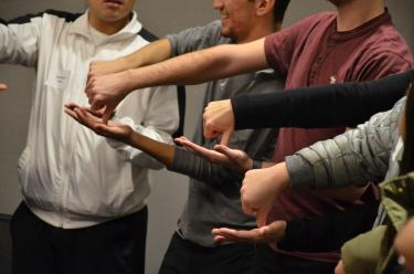 Students participate in a take 2 workshop