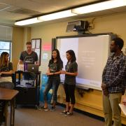 McNeill Pre-Health and Health Promotion student leaders co-hosting an event