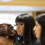UROP Professor talking to students