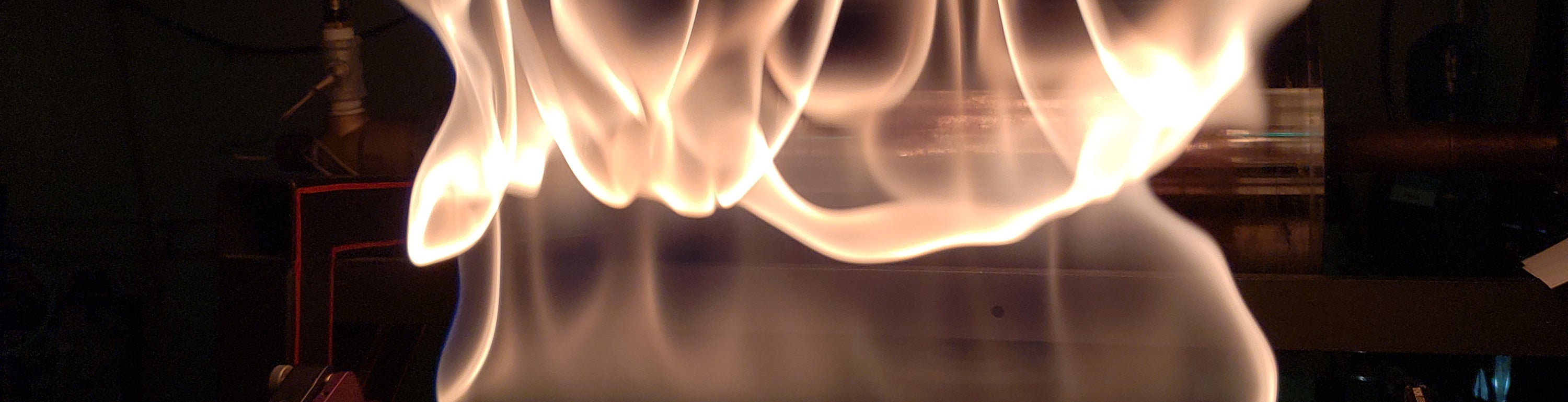 combustion study in Greg Rieker's lab