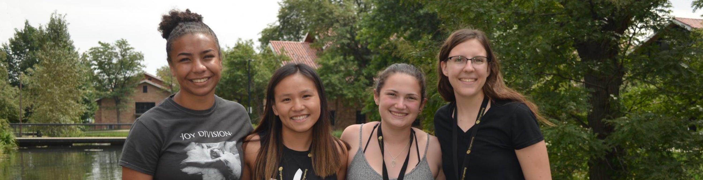 undergraduate engineering students on campus
