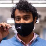 Kaushik Jayaram in lab