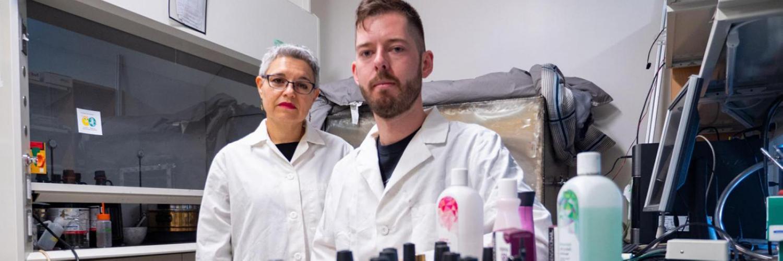 Aaron Lamplugh and Lupita Montoya research nail salon air quality