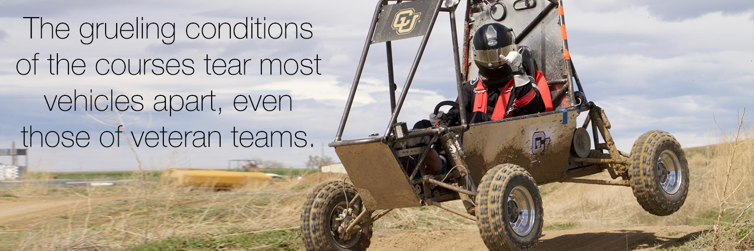 The grueling conditions of the courses tear most vehicles apart, even those of veteran teams.
