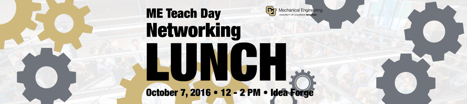 ME Teach Day Networking Lunch on October 7, 2016 12-2 PM at the Idea Forge