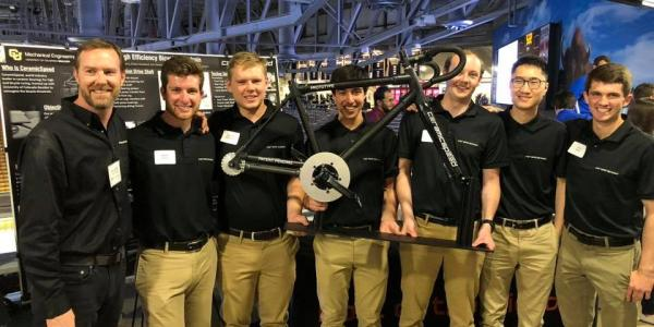 Members of the team at the 2018 Engineering Design Expo at Coors Events Center.