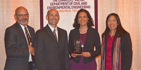 Marina Vance with her award.