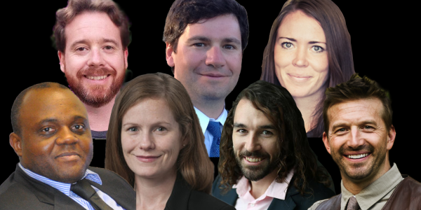 Collage image of the seven new faculty members.