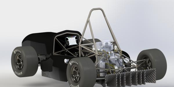 CU Boulder Racing Team car rendering for Formula SAE
