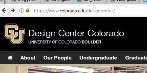 Screenshot of part of the new website.