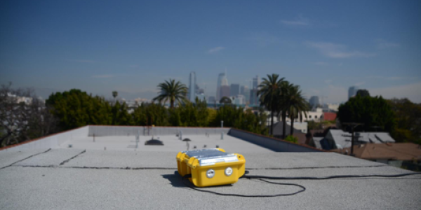 Y-pods set up around Los Angels (Photo credit: Jacob Thorson)