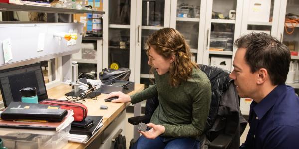 faculty advisor in lab