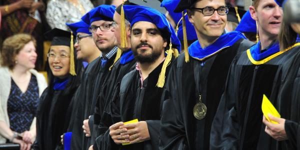 PhD students at graduation.