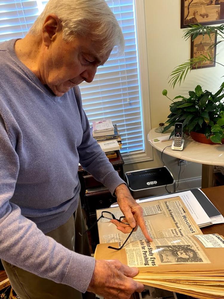 Bill Jann Shares Pershing Scrapbook