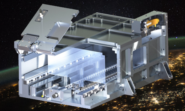 A CAD rendering of the CubeSat launcher.
