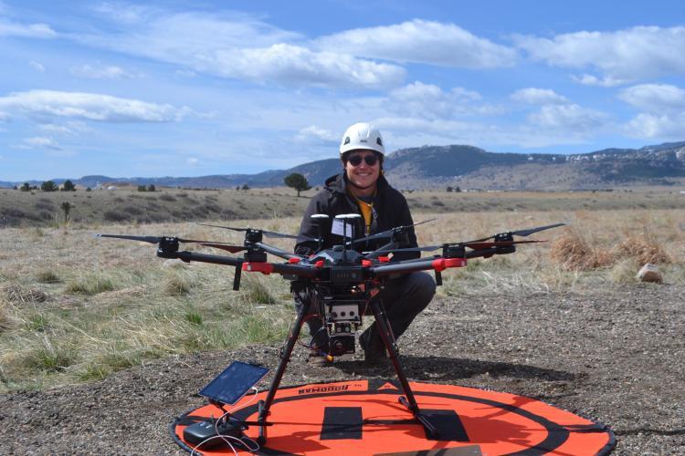 Siemens Gamesa CU Boulder capstone design drone and infrared camera