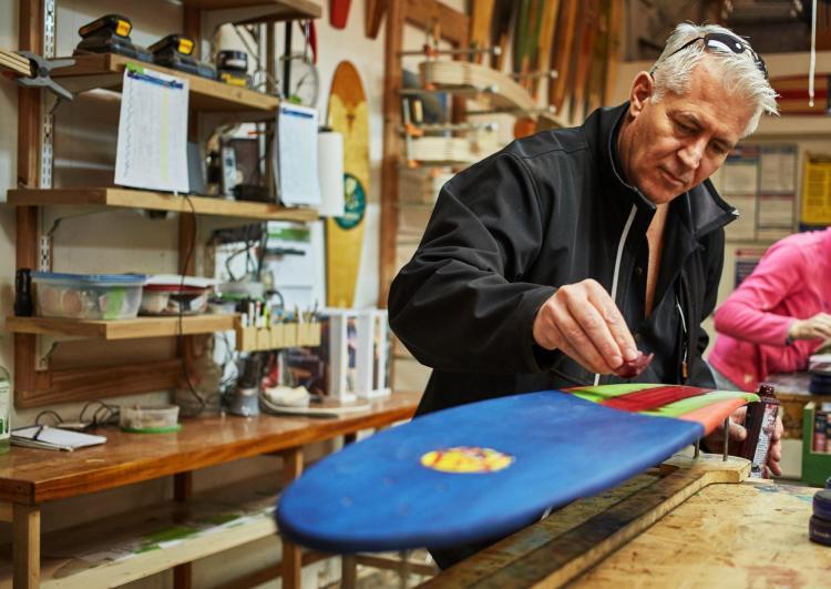 Mike Maloney KOTA Longboards Artwork