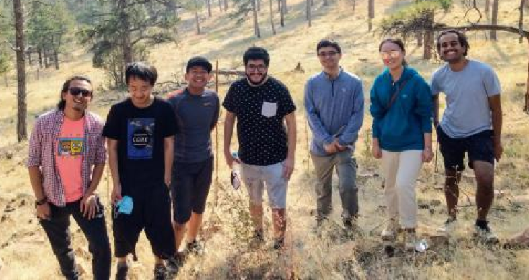 Ding lab researchers on a hike in Boulder
