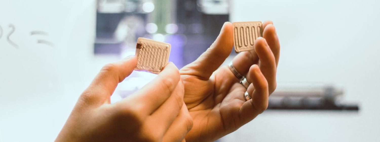 printed sensors in research lab