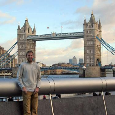 Caelan Lapointe at London Bridge.
