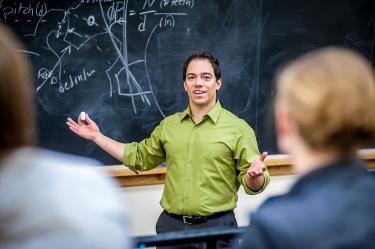 Mark Rentschler leading classroom instruction.