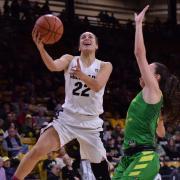 Haley Smith on the basketball court.