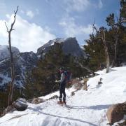 Alex Yersak on the slopes.