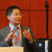 Baowen Li speaking at the conference.