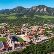 Aerial shot of campus.