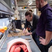 Micah Prendergast works on Endoculus robotic capsule endoscope