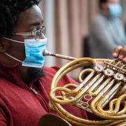 french horn playing during covid-19