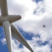 siemens gamesa wind turbine and drone