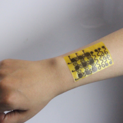 Example of the electronic skin on a human arm.