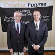 Duane Chesley at the 2012 Engineering Scholarship Dinner with his scholarship recipient