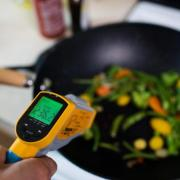 Monitoring a skillet on a stove