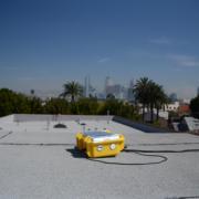 Y-pods set up around Los Angels (Photo credit: Jacob Thorson)