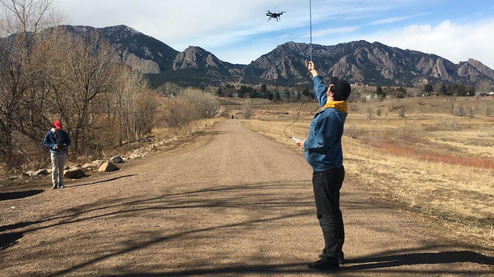 Testing the device in view of the Flatirons