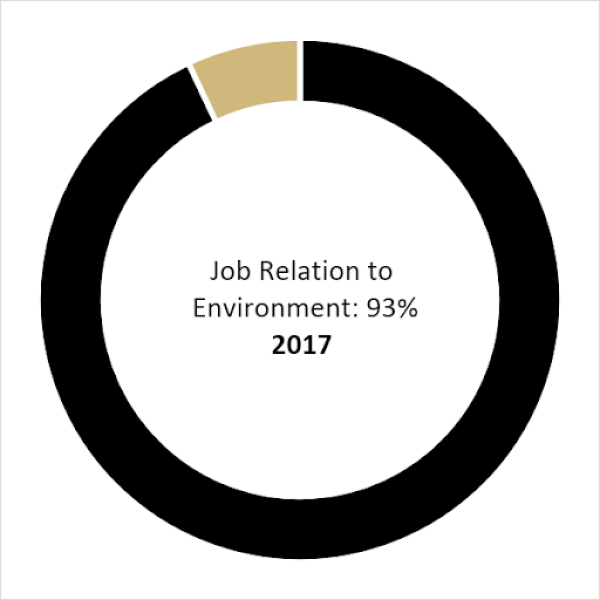 Class of 2017 Job Relation to the Environment (93%)
