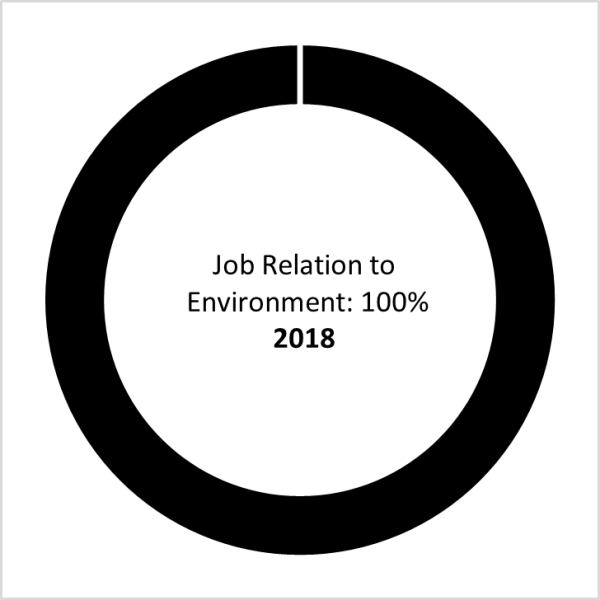 Class of 2018 Job Relation to the Environment (100%)