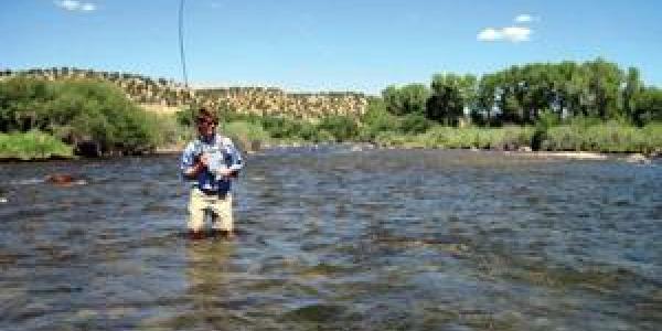 Fisherman in Chaffee County