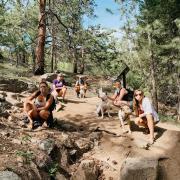 GCF capstone team hiking picture