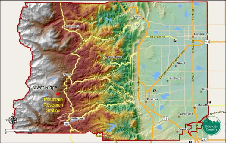 Boulder County Topo Map