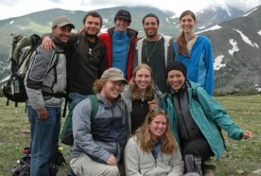 Students at Mountain Research Station