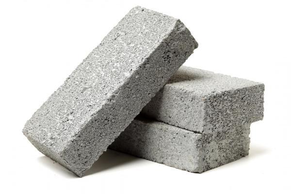 Stacked concrete bricks