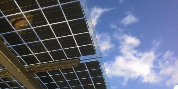 Underside of a solar panel