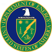 United States Department of Energy logo featuring bald eagle head over shield featuring different energy sources