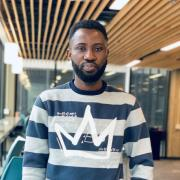 Emmanuel Bamidele in the Engineering Center