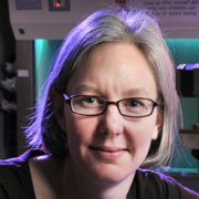 Stephanie Bryant in the lab